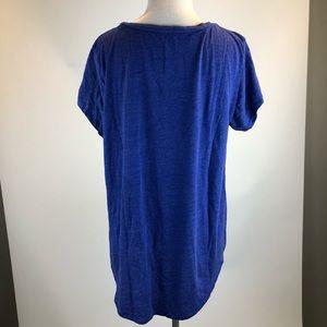 Lucky Brand Tops - Lucky Brand Blue Short Sleeved Varsity Graphic Tee
